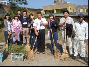 野の花学園清掃の写真